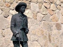 Francova socha u hradeb pevnosti vMelille