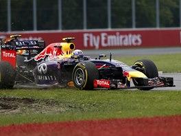 VÍTĚZ V PROBLÉMECH. Pozdější vítěz Velké ceny Kanady Daniel Ricciardo vyjel s