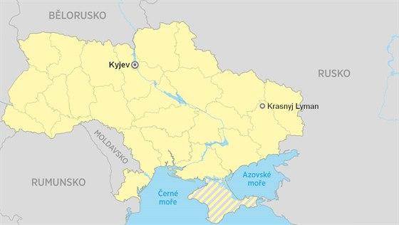 krasnyj  Lyman mapa