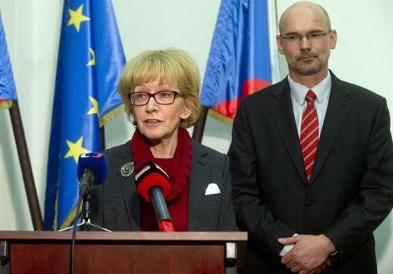 Ministryně spravedlnosti Helena Válková a její vyhozený náměstek Pavel Štern.