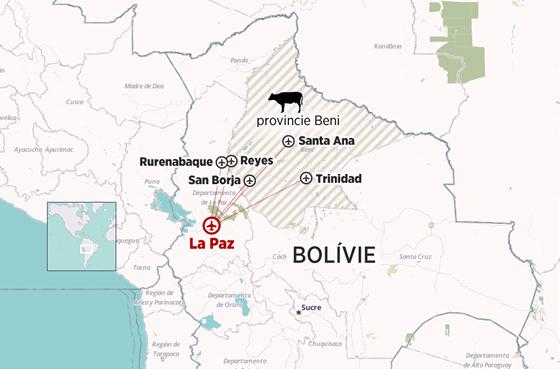 Bolívie, La Paz a provincie Beni