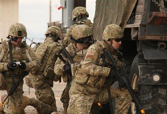 Rangers v uniformách Multicam při cvičení v roce 2007