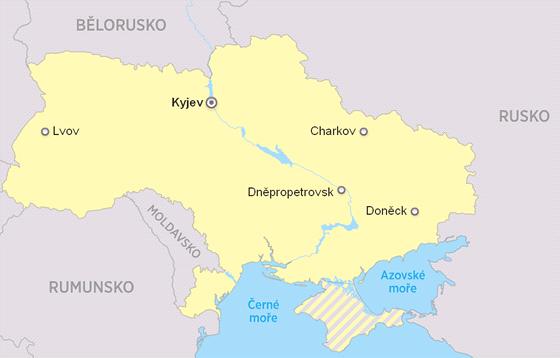 MAPA: České zastupitelské úřady na Ukrajině. V Kyjevě sídlí velvyslanectví, v