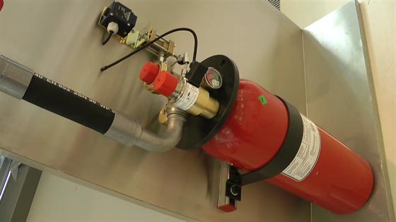 Novec 1230 je standardně ukryt v lahvích hasicích systémů.