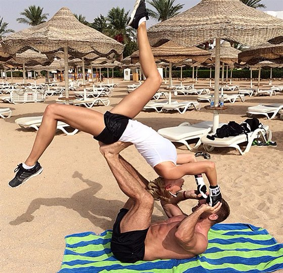 Hana Mašlíková nepolevila s cvičením ani na dovolené v Egyptě
