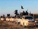 Kolona bojovníků ISIS v irácké provincii Anbár (7. ledna 2014)
