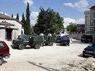 Zátah albánské policie ve městě Lazarat (16. června 2014)