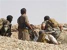 Kurdští bojovníci v provinci Dijála (18. června 2014)