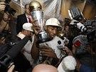 Nejužitečnější hráč finále NBA - Kawhi Leonard ze San Antonia.