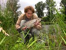 Filip �in�era s 54 cm tlou�t�m zdolan�m na t�e�e� v pe�eji.