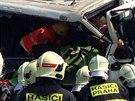 Nehoda dvou kamionů zastavila provoz na Štěrboholské radiále. Jeden z řidičů...