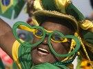 Rozdováděný fanoušek Brazílie