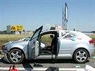 Srážka Audi a dodávky u Pohořelic (10. června, 2014).