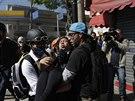 Podle 27letého studenta Gergoryho Leaa bylo cílem demonstrantů také vtrhnout na...