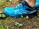 Na první pohled bota zaujme povedeným jednoduchým designem a pro Salomon