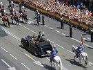 Nový královský pár vítala řada Španělů s nadšením v ulicích Madridu (19. června...