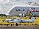 Beluga firmy AirbusMěření sil mezi Dynamicem a Belugou