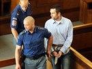 Eskorta přivádí do soudní síně Michaela Švába