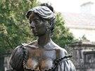 Nejslavnější Dubliňanka Molly Malone, prodavačka škeblí, která nastydla a