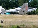 Na brn�nsk�m automotodromu p�ist�l ve �tvrtek 19. �ervna ultralehk� letoun...