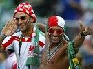 ÚSMĚVY. Fanoušci Íránu si užívají zápas proti Nigérii.