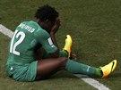 BEZ GÓLU. Útočník Pobřeží slonoviny Wilfried Bony tentokrát proti Kolumbii...