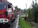 Požár domu v Jamném nad Orlicí