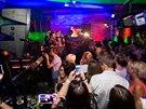 Koncert skupiny Blue pro VIP osobnosti na party pražského hotelu