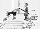 Kresba Renée Dueringové, která zobrazila tuto scénku ve svých neuveřejněných