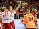 Polské házenkářky se radují z postupu na mistrovství Evropy, Petra Vítková