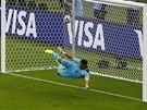 NEMÁM. Honduraský gólman Noel Valladares nedokázal francouzskou penaltu...
