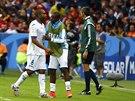 Honduraský Wilson Palacios byl vyloučený po druhé žluté kartě už před pauzou,...