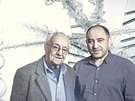 René Roubíček a Jaroslav Bejvl ml., umělecký ředitel společnosti Preciosa