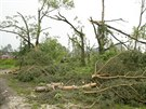 Tornádo na své trase lámalo stromy jako sirky a ty, které zůstaly stát, stejně...