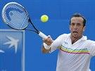 Radek Štěpánek během čtvrtfinále na turnaji v Londýně