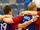 Čeští volejbalisté před utkáním Světové ligy s Nizozemskem.