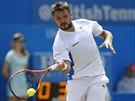 Stan Wawrinka v semifinále turnaje v Londýně proti Grigoru Dimitrovovi