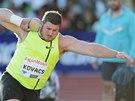 Americký koulař Joe Kovacs hodil nářadí do vzdálenosti 21,14 m, což mu v Oslu