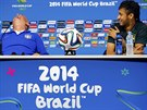 TO JE VESELO. Brazilský kouč Luiz Felipe Scolari a hlavní hvězda jeho týmu...