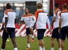 Nizozemci pilně trénují před zápasem proti Austrálii.