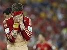 SMUTEK. Španělský útočník Diego Costa neproměnil proti Chile žádnou šanci a i...