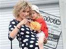 Kateřina Stočesová je v sedmém měsíci, její první dceři Anne Marii jsou tři...