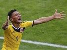 ŠŤASTNÝ STŘELEC. Kolumbijský útočník Téofilo Gutiérrez oslavuje svůj gól proti