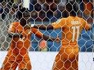 VYROVNÁNO. Wilfried Bony z Pobřeží slonoviny se raduje z gólu proti Japonsku,
