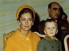 Bývalá belgická královna Paola se synem (70. léta)