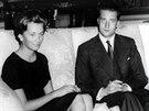 Italská princezna Paola Ruffo Di Calabria a princ Albert, pozdější belgický...