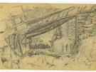 Kresba z deníku Františka Krejčího.