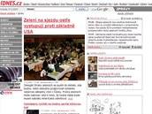 Podoba článků z roku 2007 ještě ve třísloupcovém layoutu.