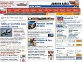 Podoba iDNES.cz z roku 2001.