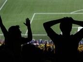 Brazilští fanoušci během úvodního zápasu mistrovství světa